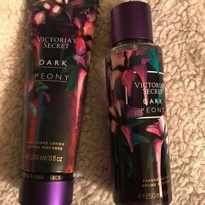 Victoria's Secret Dark Peony set of 2 NWT